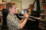 Lorenz an der Trompete